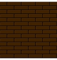 Seamless Brown Brick Wall Background vector image vector image