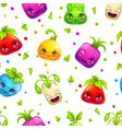 seamless pattern with cute cartoon colorful bright vector image vector image