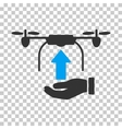 Send Drone Hand Icon vector image vector image