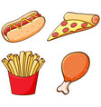 set isolated food vector image