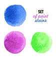 Set of colored banners with water-color stains vector image vector image