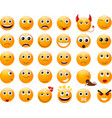 Set of orange smiles vector | Price: 1 Credit (USD $1)