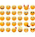 Set of orange smiles vector image