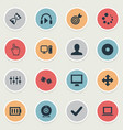 set of simple leisure icons vector image