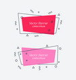 set of trendy flat geometric banners vector image vector image