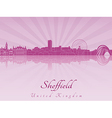 Sheffield skyline in purple radiant orchid vector image vector image