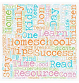 Simple Homeschool Success Tips text background vector image vector image