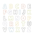 Simple Line alphabet vector image