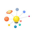 solar system model isometric 3d icon vector image vector image