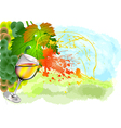 splash of white wine vector image vector image