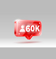 thank you followers peoples 60k online social vector image vector image