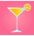 tropical cocktail with orange and bubbles vector image vector image