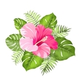 Tropical flower garland vector image vector image