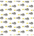 pattern with a small mouse and yellow cheese vector image