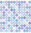 seamless winter modern colorful pattern vector image