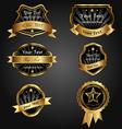 set black gold-framed labels vector image