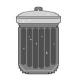 isolated pixelated trashcan vector image