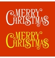 Merry Christmas Lettering for Greeting Card vector image