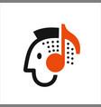 man listening to music vector image