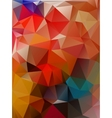 Abstract 2D geometrical colorful background vector image vector image