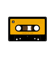 audio cassette tape isolated old music vector image vector image