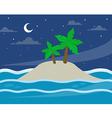 bg island moon vector image vector image