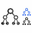 binary tree mosaic icon spheric items vector image vector image