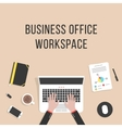 Business office workspace with laptop