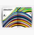 business report cover template wave vector image vector image
