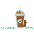 chocolate frappe glass white background ima vector image