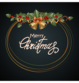 Christmas design dark vector image