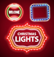 christmas lights frames set2 vector image vector image