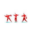 christmas santa claus red hat trendy people vector image