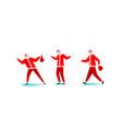christmas santa claus red hat trendy people vector image