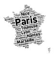Cities of France word cloud vector image vector image