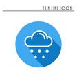 cloud sky rain line simple icon weather vector image vector image