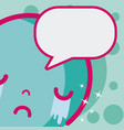 cute kawaii emoji vector image vector image