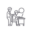 delegation of work line icon concept delegation vector image vector image