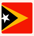 east timor square flag button social media vector image vector image