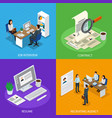 employment recruitment isometric concept vector image vector image