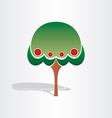 family tree symbol design vector image