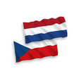 flags czech republic and netherlands on a white vector image
