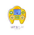 game console with screen and buttons electronic vector image vector image