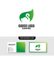 goose logo template free business card mockup vector image