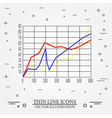 Graphs thin line design vector image vector image