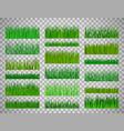 grass border set on transparent background vector image vector image
