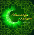 Greeting card of holy muslim month ramadan vector image
