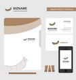 hot dog business logo file cover visiting card vector image