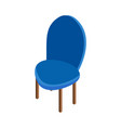 isometric chair icon vector image vector image