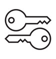 key icons outline vector image vector image